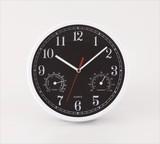 温湿時計付き掛け時計 / 新生活 名入れ ノベルティ ギフト