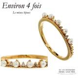 Plating Cubic Zirconia Pearl Design Ring