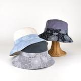 【春夏新作】シャンブレーワッシャーキャペリン レディース帽子