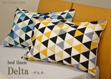 【デルタ】枕カバー ピロケース  単品 M 43x63 メンズ 幾何学模様 新生活
