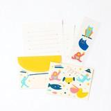 <レターセット>cheerful mini letter set ATLM-02 UCHUU