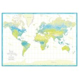 世界地図A1 TMA1-01 WHITE