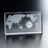 【グラスワークス】ワールド クロック 10cm