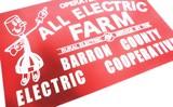 ガレージにどうぞ!【ALL ELECTRIC FARM PLYWOODS SIGN】