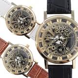 フェイクレザーメンズウォッチ メンズ腕時計