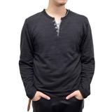 【2017春夏】カノコ フェイク 4つボタン キーネック Tシャツ