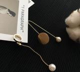 ★2017春新作★ 幾何型・不対称・真珠・円形 可愛い ピアス イヤリング