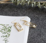 ★2017春新作★ 幾何型・真珠・方形 可愛い ピアス イヤリング