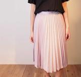 【日本製日本生地】上質素材ミックスプリーツスカート