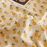 Fabric Cotton Fruit Pineapple Design Fabric