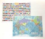 A4下敷き 世界地図