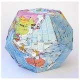 ペーパークラフト地球儀(行政)/地図