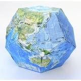 ペーパークラフト地球儀(地球地図)