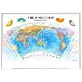 クリアファイル 正距円錐図法/地図 A4