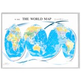 クリアファイル 断裂モルワイデ図法/地図 A4