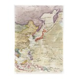 Plastic Folder Asia Map