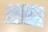 鉄道路線図クリアファイル 首都圏 英語 A4タテ・見開きA3 おしゃれ半透明
