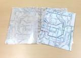 鉄道路線図クリアファイル 関西 英語 A4タテ・見開きA3 おしゃれ半透明