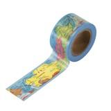 〈ヨーロッパ周辺地図柄〉マスキングテープ ポップ/地図 幅 2.4cm