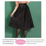 【2017SS新作】中空素材 フラワーカットデザイン スカート