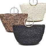 【特価SALE】雑材ペーパー素材 トートバッグ カゴバッグ<ジェムン>かごバッグ