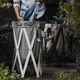 【2色展開】Lanundry Hamper - ランドリーハンパー - ランドリーボックス 洗濯かご