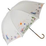 ★先行受注★《17SS新作》【moomin】【雨傘】長傘 ムーミンファミリーガーデン