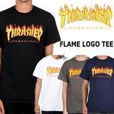 THRASHER【スラッシャー】 FLAME LOGO 半袖 Tシャツ (全4色)