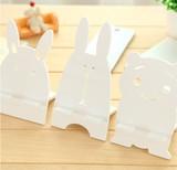 【可愛い風登場!】ホワイト ウサギ クマ トトロ スマホ立て スタンド・ホルダー 三種 使いやすい