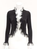 Pleats Frill Bolero Jacket