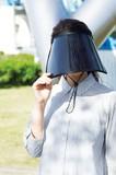 ワイドサンバイザー/紫外線対策 UVケア 春 はる 夏 アウトドア レジャー