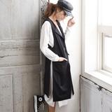 ◆ジョーゼット・ロング丈ノーカラージャケット/ジレ/ベスト◆425296