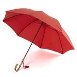 【予約販売】(4月納品)雨傘(長傘)JAPANシリーズ バンブー手元(レッド)