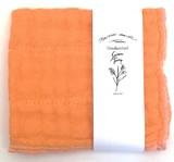<日本製>ガーゼ素材 スムースハンカチ(オレンジ)