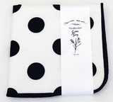 Handkerchief Dot White Black