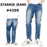 【韓国デニム】【STARNIK JEANS】 ウォッシュド ストレッチ ダメージ ジーンズ #4259