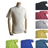 フランスタイプ Vネック半袖Tシャツ 8色