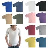 東ドイツタイプ Uネック 半袖Tシャツ 半袖 12色