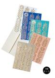 いろいろ手漉き紙の花模様カード(5枚セット)