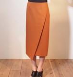 【日本製日本生地】上質素材左斜めスリットスカート