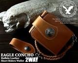 2WAY仕様バッファローレザーショートライダースウォレット ウォッシュド加工 / メンズ 財布