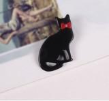 ?2017春新作? 黒猫 ブローチ バッジ 徽章