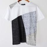【予約販売4月末納品】切替え クルーネック 半袖 Tシャツ