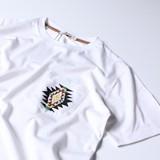 【2017SS新作】エスニックビーズポケット付き クルーネック半袖Tシャツ
