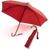 雨傘(折傘)JAPANシリーズ バンブー手元(レッド)
