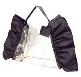【予約販売】(4月納品)<本革使用>ビニールトートバッグ(クリア)巾着付き