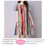 2017 S/S Colorful Stripe Material One-piece Dress