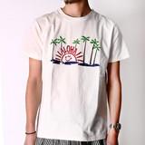 【2017SS新作】NanoTec 刺繍 半袖Tシャツ(ALOHA SUN)