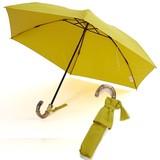 雨傘(折傘)JAPANシリーズ バンブー手元(マスタード)