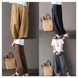 2017 S/S Wide Silhouette Cotton Linen Pants